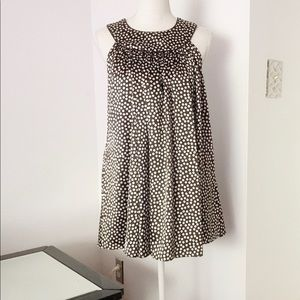 Zara Basic Brown Polka Dot Mini Dress Size Small